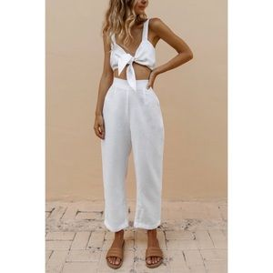 NWT POSSE Australia May Pant in White